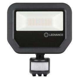 LED lyskaster Ledvance (Osram) m/sensor SYM 20W 3000K 2200lm Sort IP65