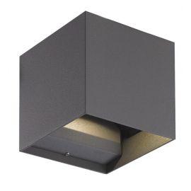 Biri Cube vegglampe opp/ned utendørs IP54 - Grafitt