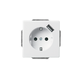 ABB STIKK M/J OG USB UTTAK, HV. MT 20EUCBUSB-884-500
