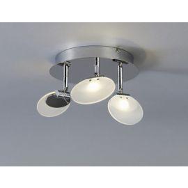 LOBO plafond spot 3x3W LED dimbar krom