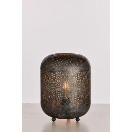 Irma bordlampe - sort-sølv