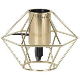 Edge lampeholder i metall 15 cm E27 messing
