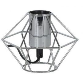 Edge lampeholder i metall 15 cm E27 krom