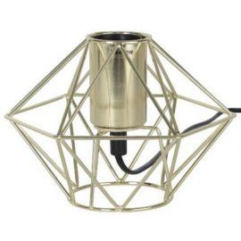 Edge lampeholder i metall 17 cm E27 messing