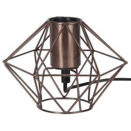Edge lampeholder i metall 17 cm E27 kopper