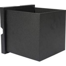 Unilamp kube Maxi 2x5W 3000K IP55 Sort Maxi