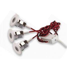 Led Downlight Lavtbyggende Hvit 3 x 3W m/driver IP44 hvit