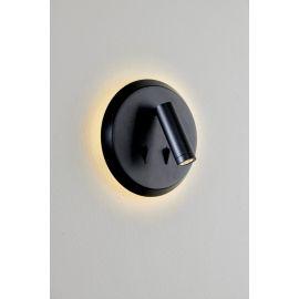 MAC rund vegglampe 3x3W LED, Sort