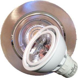 LED downlight COB GU10 5W 2700K- Børstet
