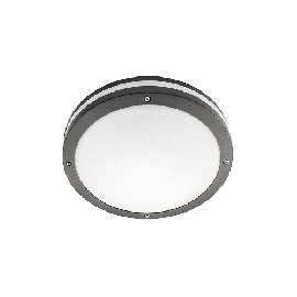 Unilamp Discos 2000 Grafitt 19W LED 3000K