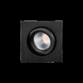 SG Junistar Lux Square Sort 490lm 3000K Ra>98 Faseavsnitt