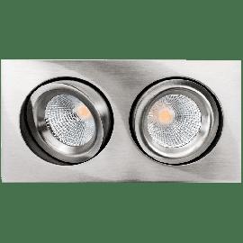 SG Junistar Square Lux Børstet stål 2x7W LED 2700K Ra 98