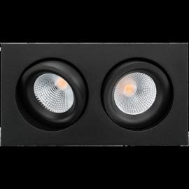 SG Junistar Square Lux Sort 2x7W LED 3000K Ra 98