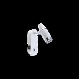 Cuba veggspot hvit 5wLED 3000k USB 2,1 ma
