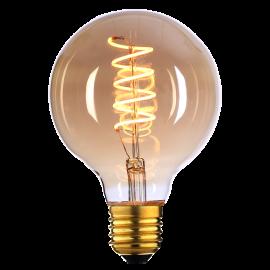 Spiral filament E27 4W 95 mm dimbar - Amber