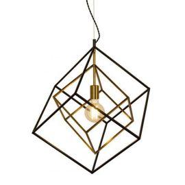 Cubes taklampe svart/messing E27