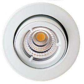 LED Downlight GU10 5W COB Dimbar 2700K Matt hvit
