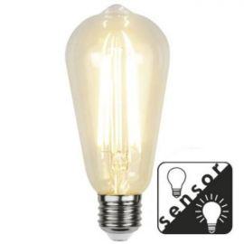 Decoration Lanterne LED Klar m/sensor E27 2100K 300lm 4,2W