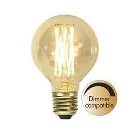 Decoration LED G80 Vintage Gold fil E27 1800K 240lm Dimbar