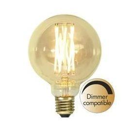 Decoration LED G95 Vintage Gold fila E27 1800K 240lm Dimbar