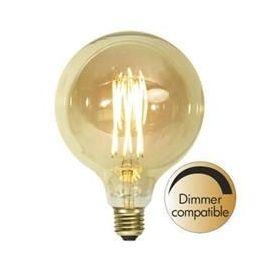 Decoration LED G125 Vintage Gold fila E27 1800K 240lm Dimbar