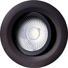 Unilamp Gyro Sort 8w Lavtbyggende downlight DALI