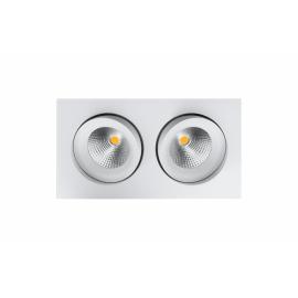 SG junistar Square IsoSafe DimToWarm Matt hvit 2x6W LED 2000-2800K Ra>95