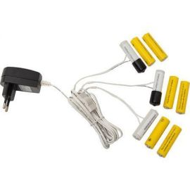 Batterieliminator for 3xAA med 3 utganger