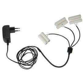 Batterieliminator for 2xAA med 3 utganger
