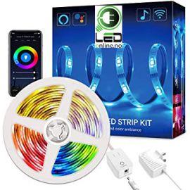 5M RGB + Varm hvit + Kald hvit - Appstyring