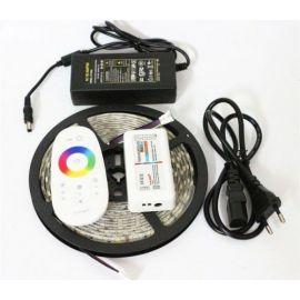 LED Strip Farger RGB og Varm hvit 14,4W, 5M ink Trafo og RF fjernkontroll
