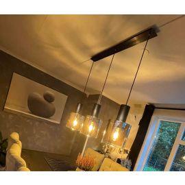 Roxy taklampe Røykfarget 3 lamper