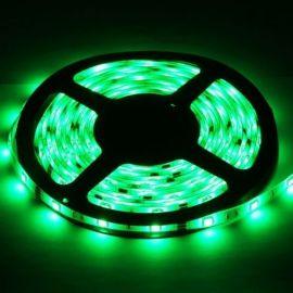 Grønn LED stripe. Epoxy vanntett IP65 LED 5050 SMD, 30 LED/M, 5M