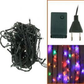 Vanntett 100 LED RGB tau lys med Controller, Flashing / Fading / Chasing Effect, Lengde: 10m