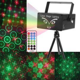 2 farget Laser med prosjekter egenskaper og fjernkontroll, Lyd aktivert