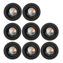 SG Junistar Eco IsoSafe 8-pack Sort 6W LED 2700K Ra 98