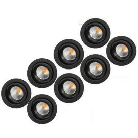 SG Junistar Eco IsoSafe 8 pack DimTowarm Sort 6W LED 2000-2800K Ra>95