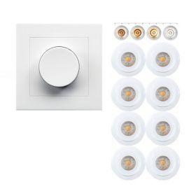 8 pack Smart Viking Downlight pakke med App styring