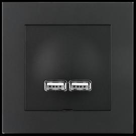 Plus USB lader 2,1A Sort ELKO