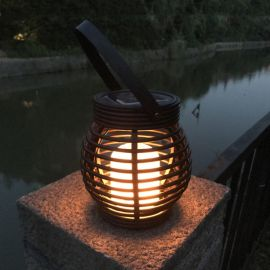 Solcelle Lykt med Flamme LEDlys, utrolig fint varmt lys