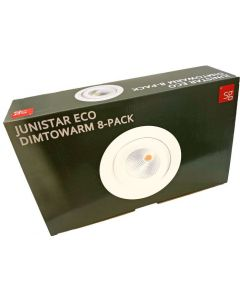 SG Junistar Eco IsoSafe 8-pack Hvit 6W LED 2000-2800K Ra>95