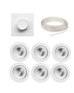 SG 7W DimToWarm IsoSafe Pakkeløsning med Dimmer/kabel og Appstyring