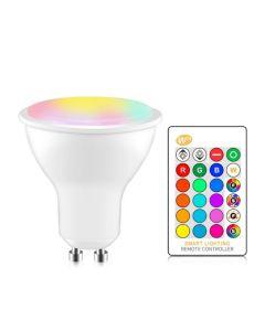 RGB og Hvit GU10 LED 5W