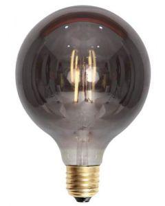 Edison globe smoke 4W LED dimbar 125mm