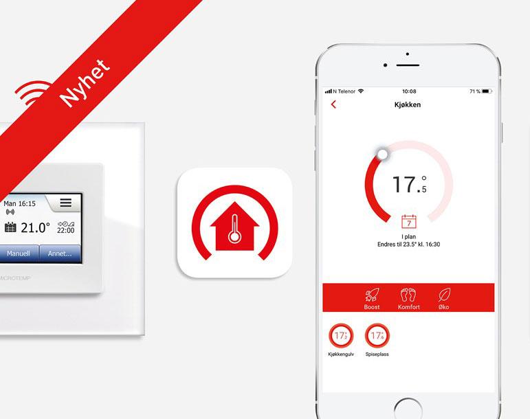 Moderne termostater sparer mer strøm